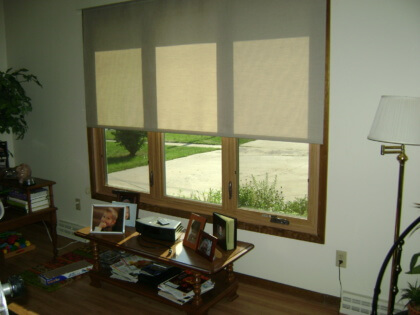 Indoor solar shades