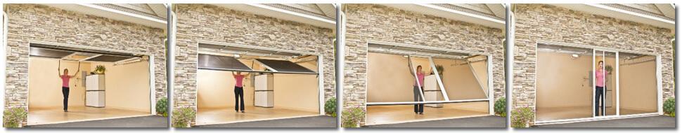 Lifestyle Garage Door Screen - In Action