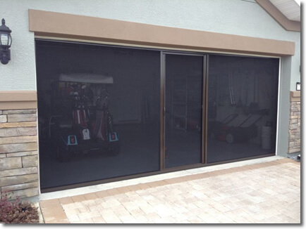 Garage Door Screen Adds Bug Free Living Space To Your Home